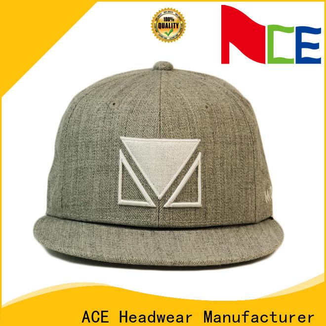 ACE grey best snapback hats bulk production for beauty
