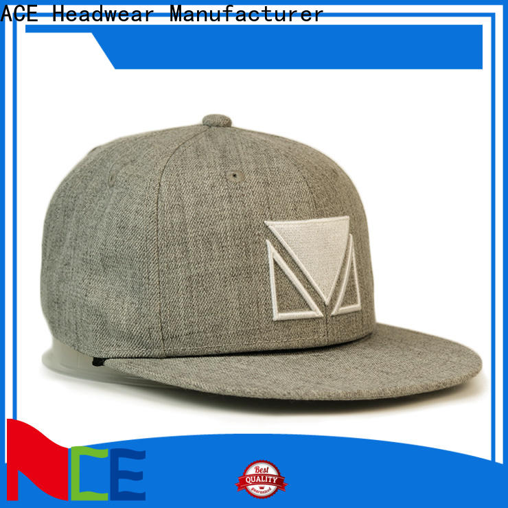 portable blank snapback hats cotton supplier for fashion