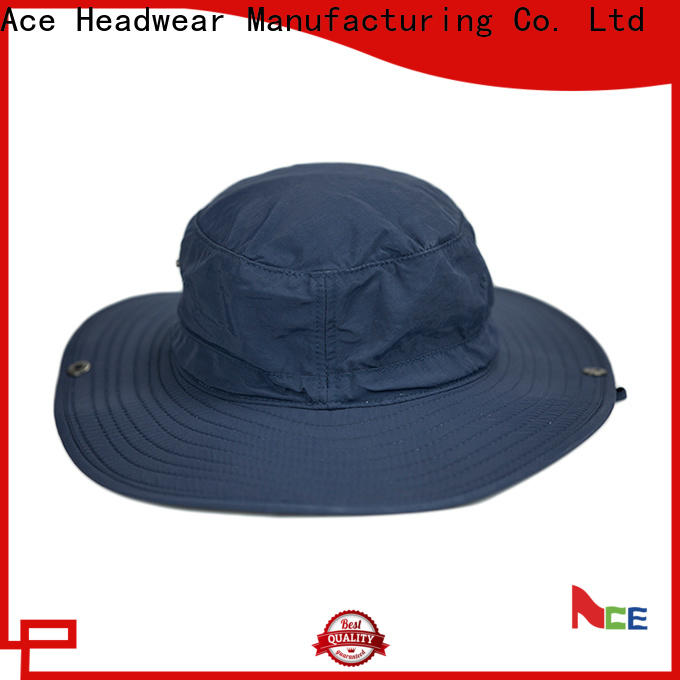 ACE solid mesh custom bucket hats get quote for beauty