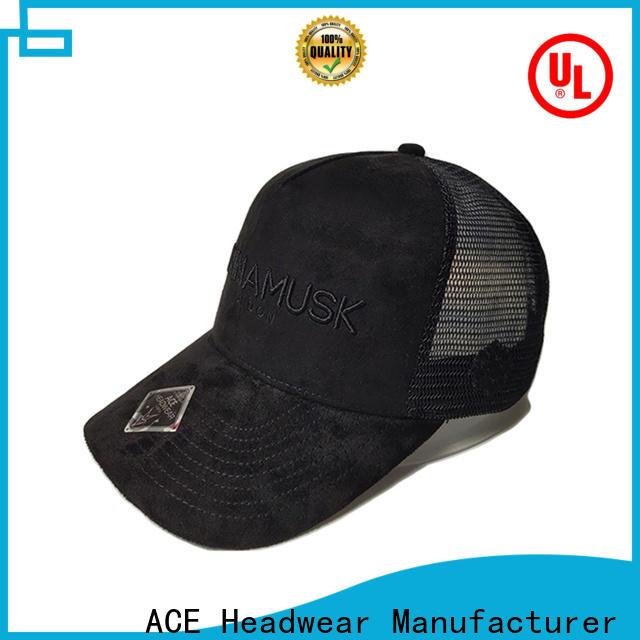 high-quality black trucker cap words customization for fashion