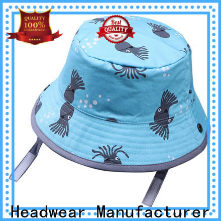 portable bucket hat with string brim customization for beauty