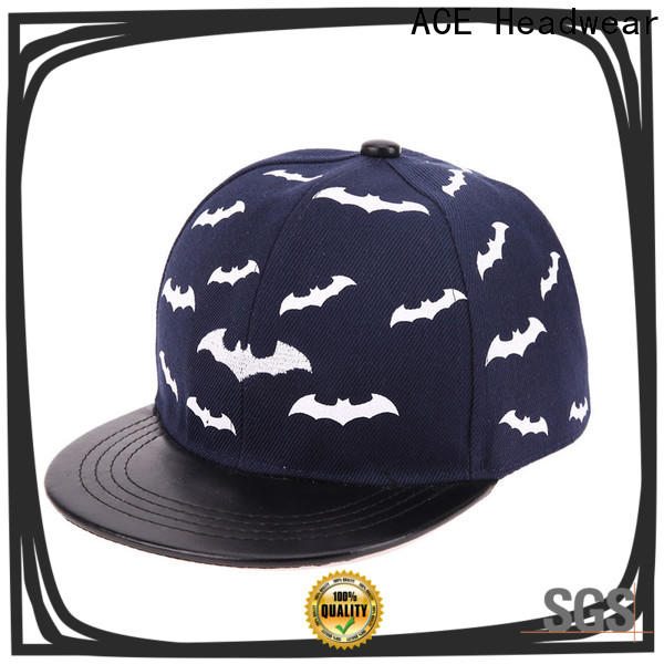 ACE grid black snapback hat get quote for fashion