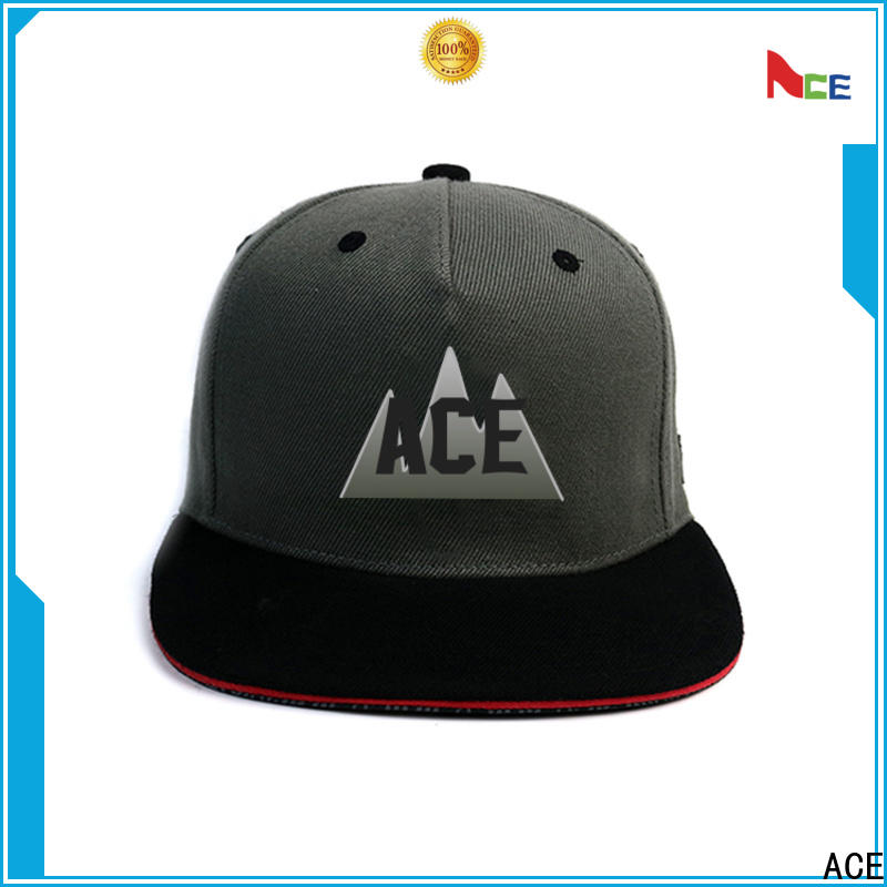 ACE durable blank snapback hats ODM for fashion