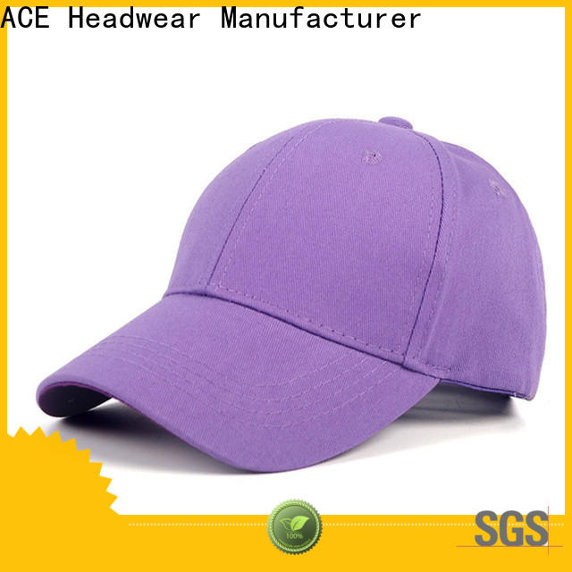 ACE flower embroidered baseball cap get quote for fashion