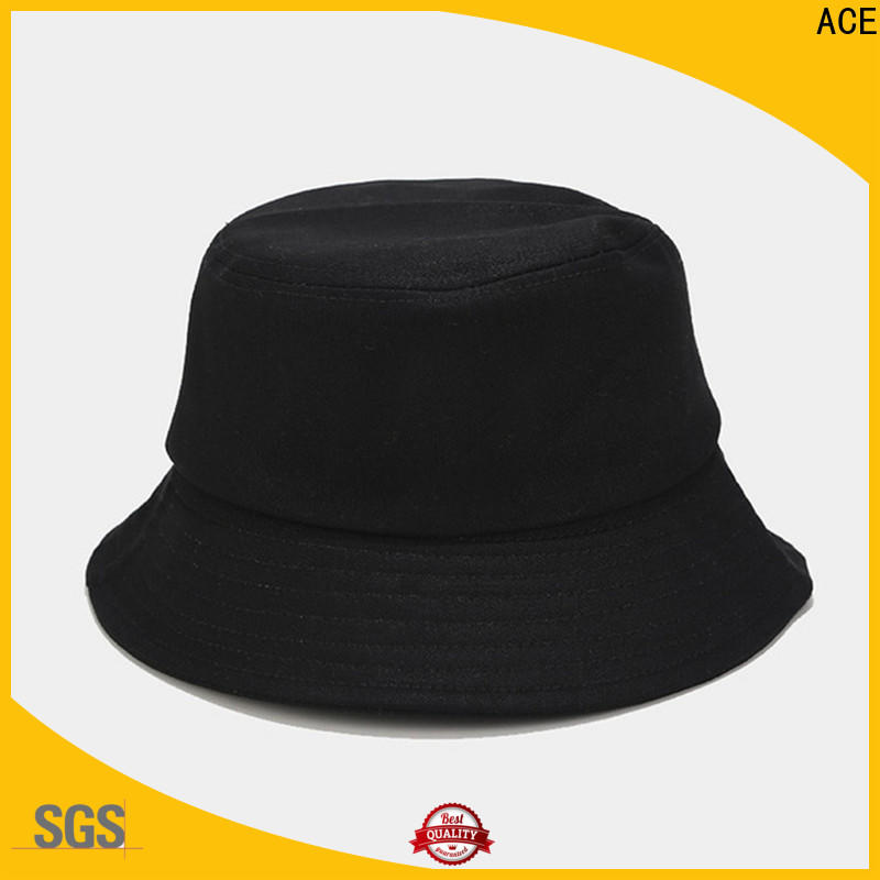Breathable blue bucket hat on supplier for beauty