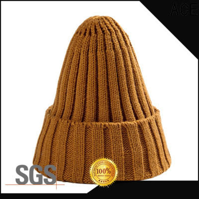 ACE purple grey knit beanie free sample for fashion