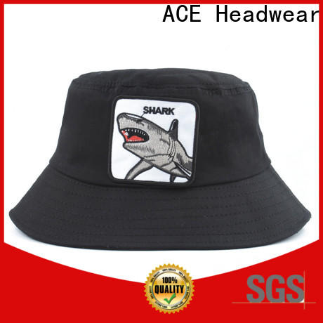 ACE style black bucket hat OEM for fashion