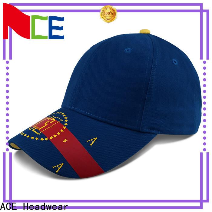 ACE fabric baseball cap bulk production for baseball fans