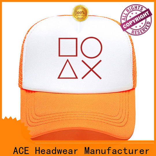 ACE durable cool trucker caps free sample for fashion