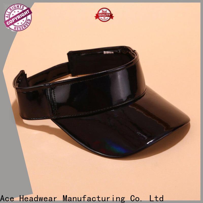ACE solid mesh ladies sun visor hats bulk production for beauty