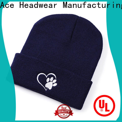 ACE solid mesh loose knit beanie free sample for fashion