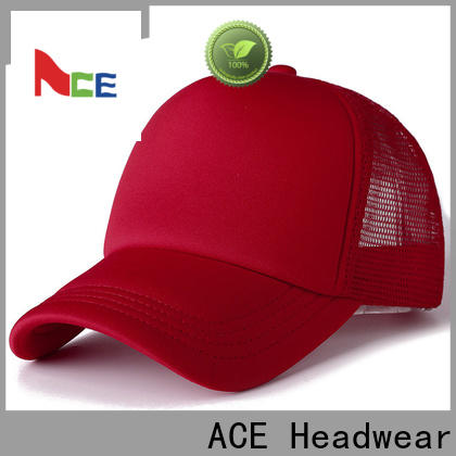 ACE durable fashion baseball caps free sample for beauty