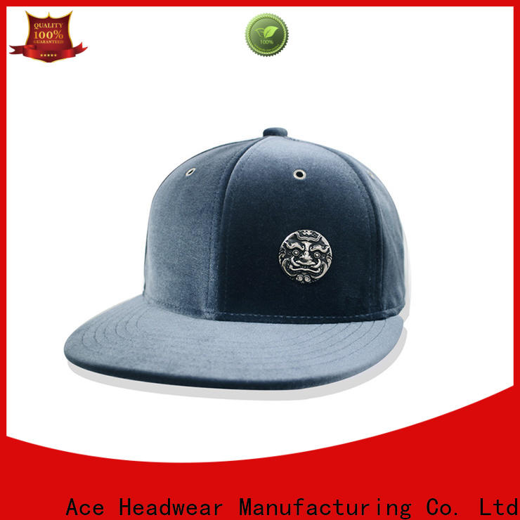 ACE green blank snapback hats for wholesale for fashion