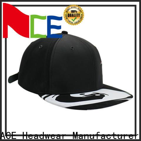 ACE grey snapback hat brands customization for beauty
