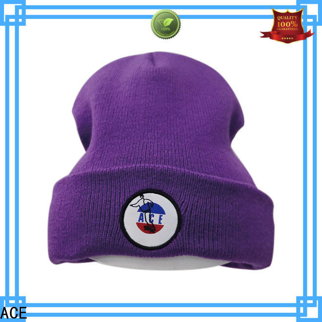 ACE Breathable loose knit beanie buy now for fashion