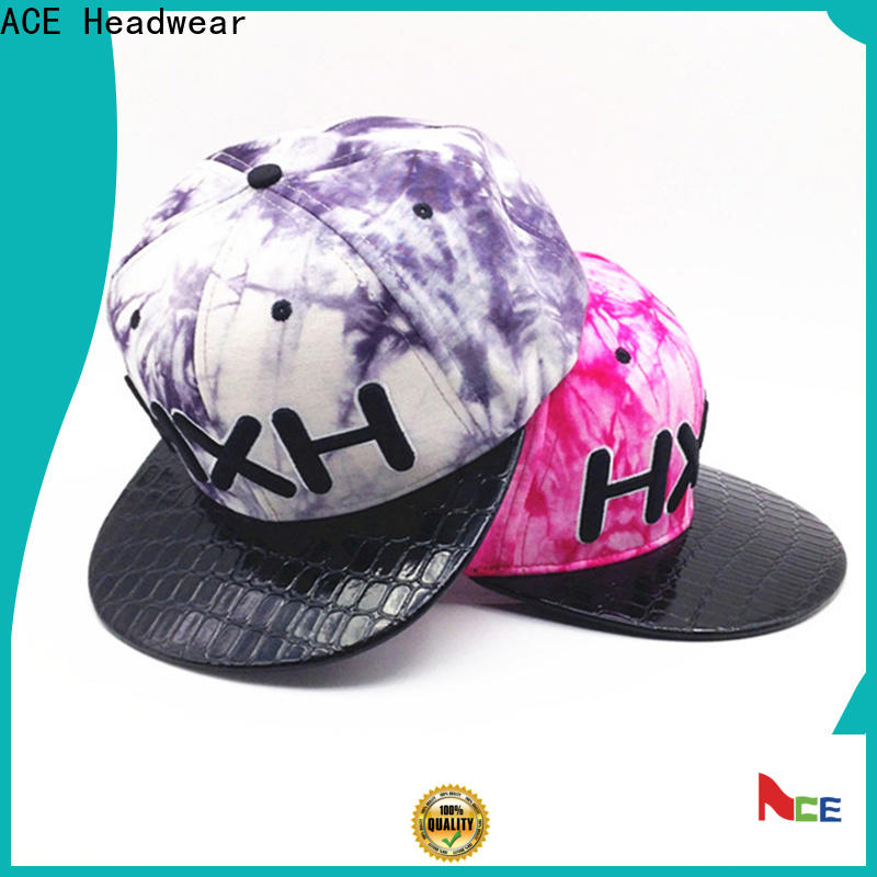 ACE fabric wholesale snapback hats buy now for fashion