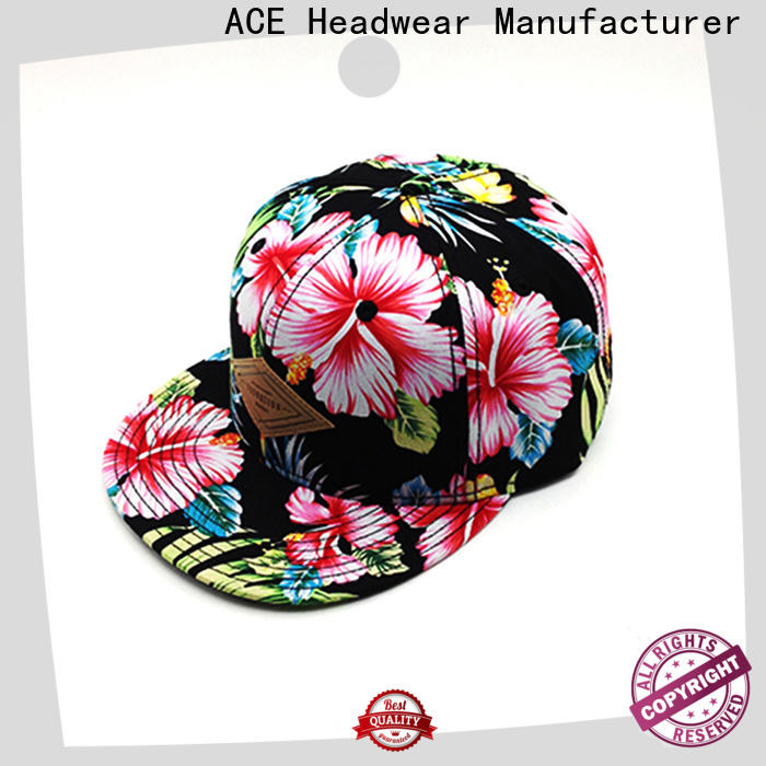 ACE funky snapback caps for men customization for beauty