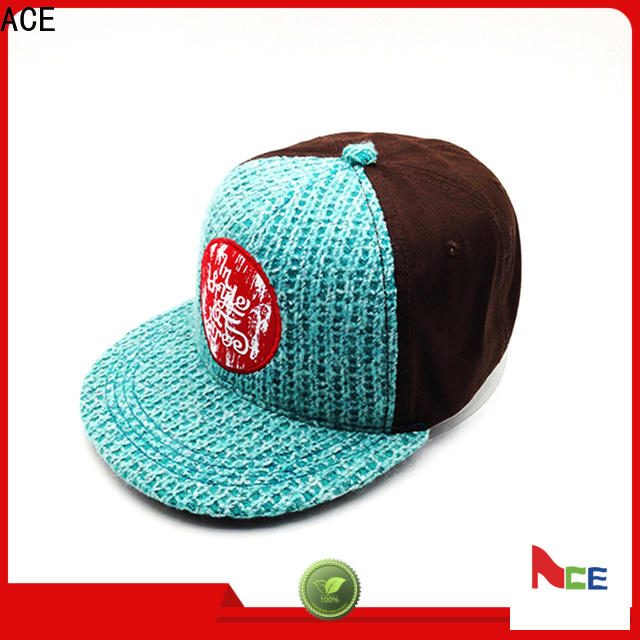 ACE high-quality custom snapback caps free sample for fashion