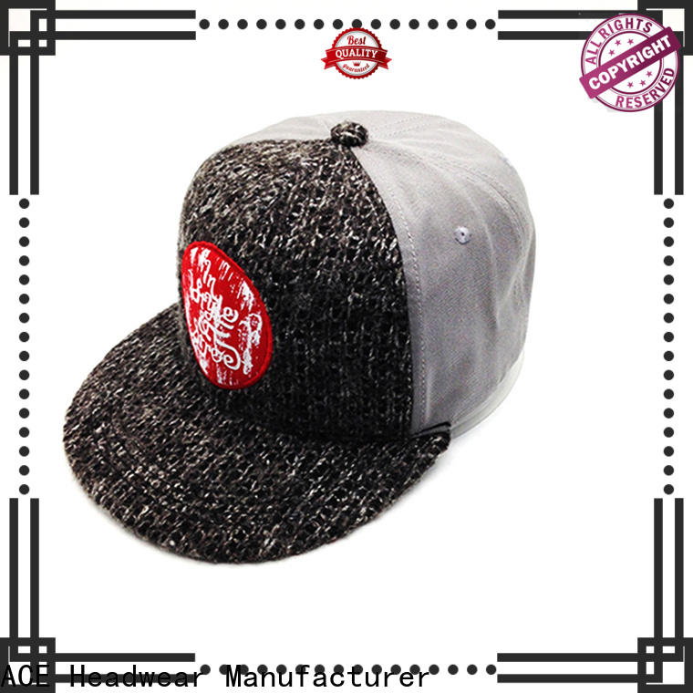 ACE latest personalised snapback caps supplier for fashion