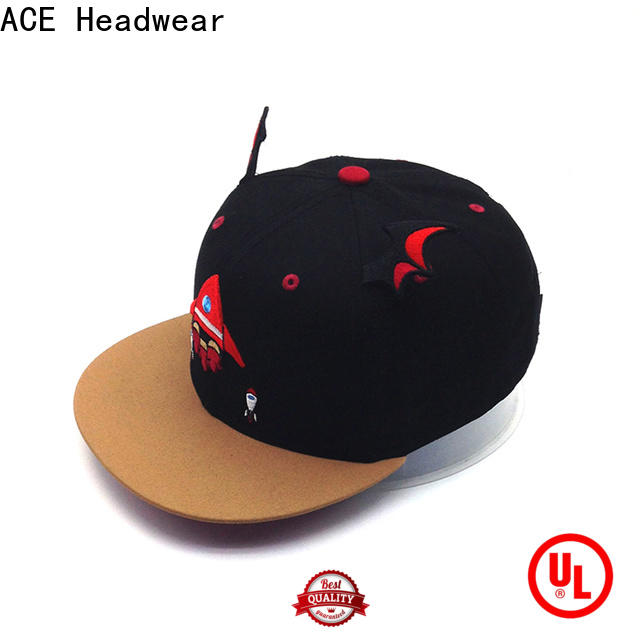 ACE high-quality blue snapback hat for wholesale for beauty