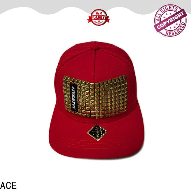 ACE customized grey snapback hat ODM for beauty