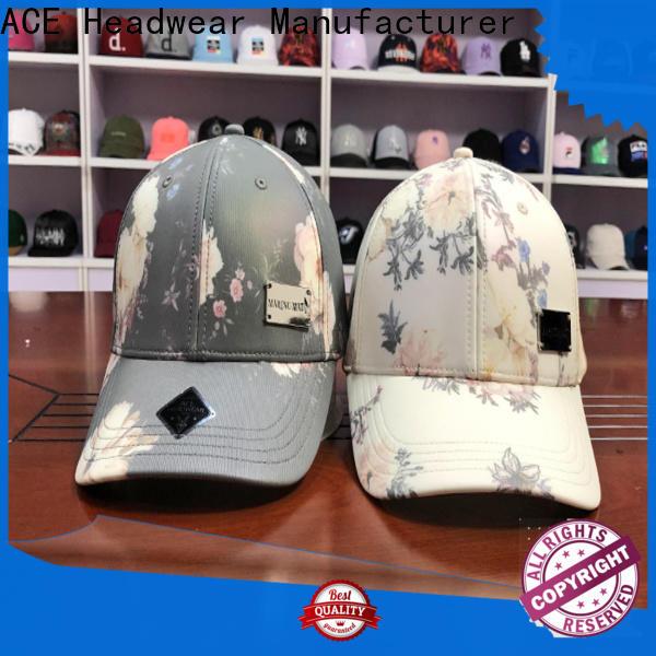 at discount logo baseball cap printing supplier for beauty