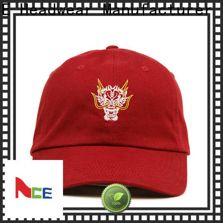Breathable baseball cap with embroidery curved ODM for baseball fans