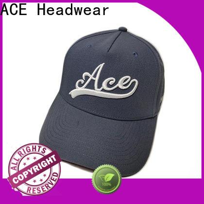 ACE flat white baseball cap bulk production for fashion