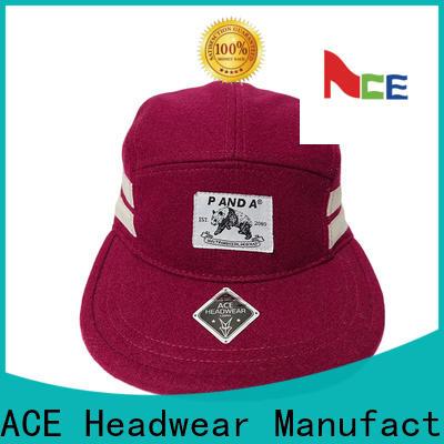 ACE customized black snapback hat customization for fashion