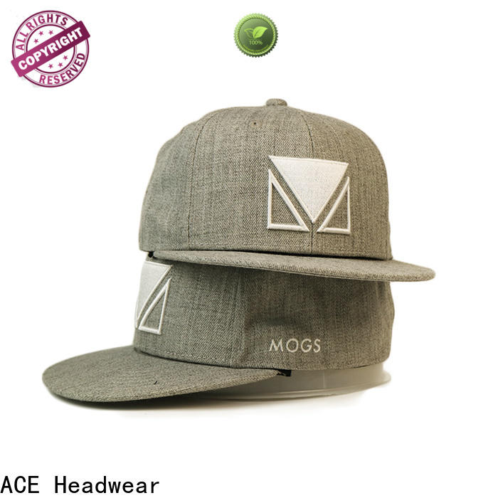 ACE print cool snapback caps get quote for fashion