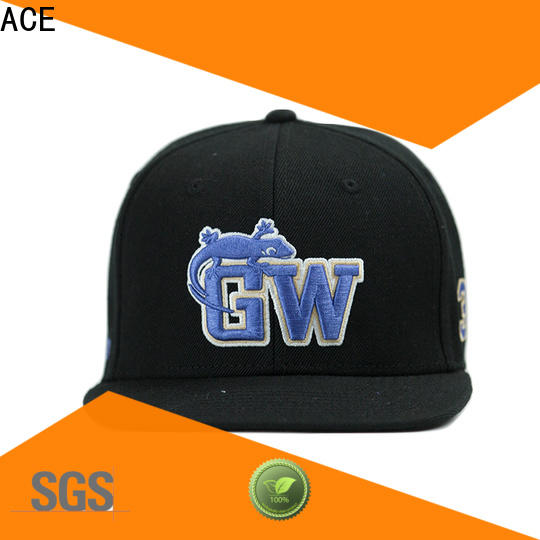 ACE white cool snapback caps customization for fashion
