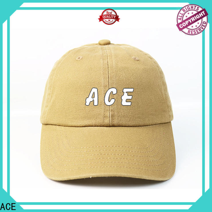 ACE latest embroidered baseball cap bulk production for baseball fans