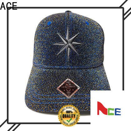 ACE Breathable custom baseball caps free sample for fashion