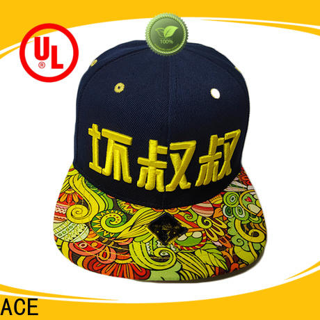 ACE Breathable snapback hat get quote for beauty