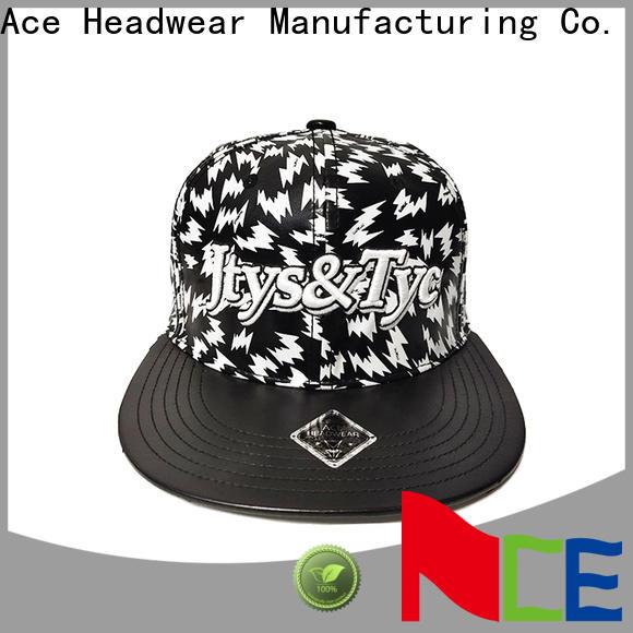 ACE camouflage custom made snapback hats free sample for fashion