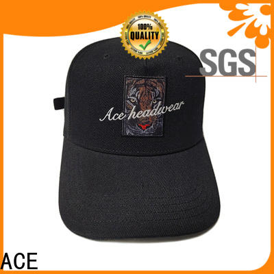 ACE portable custom baseball caps buy now for fashion