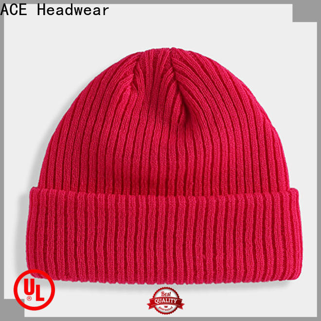 ACE Breathable knit beanie hats OEM for beauty