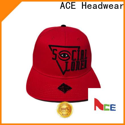 ACE durable grey snapback hat bulk production for beauty
