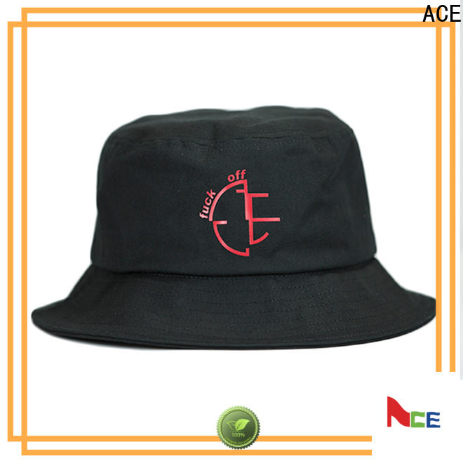 ACE on red bucket hat buy now for fashion