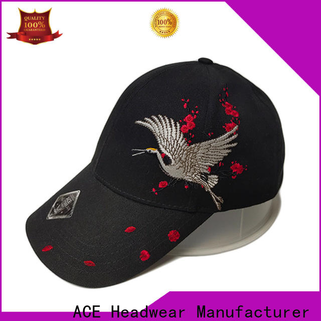 ACE durable best baseball caps bulk production for fashion