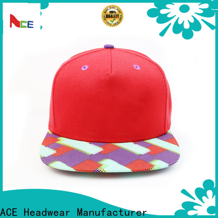 ACE funky snapback cap supplier for beauty