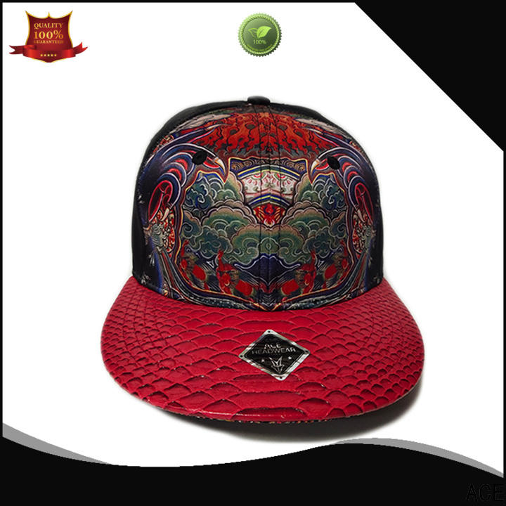 ACE solid mesh blue snapback hat get quote for beauty