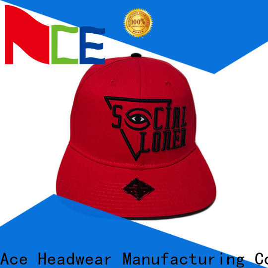 ACE durable snapback hat brands ODM for beauty