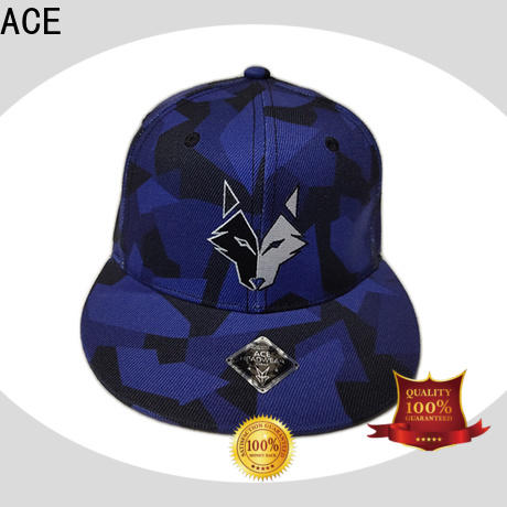ACE latest white snapback hat for wholesale for fashion