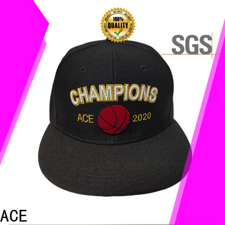 ACE fabric bulk snapback hats supplier for fashion