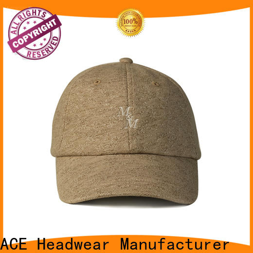 ACE black logo baseball cap free sample for fashion