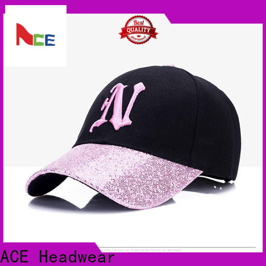 ACE proof embroidered baseball caps buy now for fashion