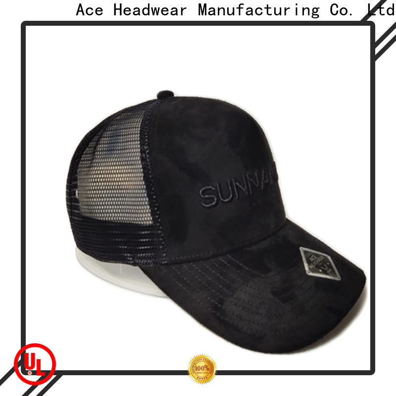 ACE leather white trucker cap bulk production for beauty