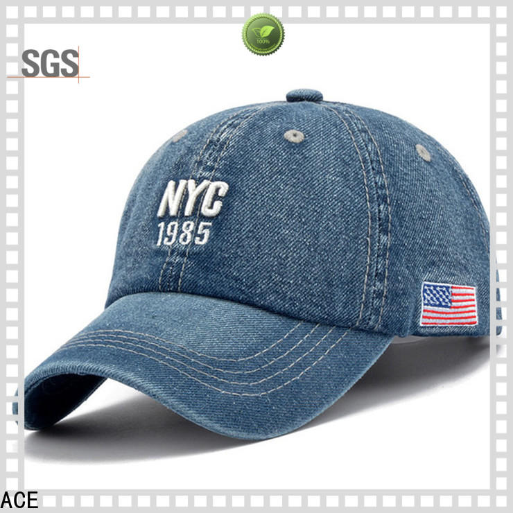 ACE rabbit embroidered baseball cap customization for beauty