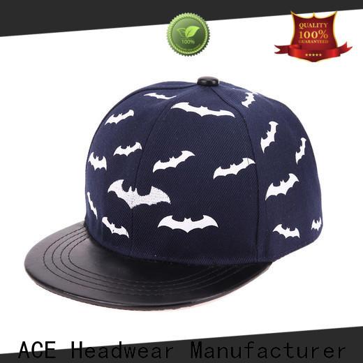 ACE purple custom made snapback hats customization for fashion